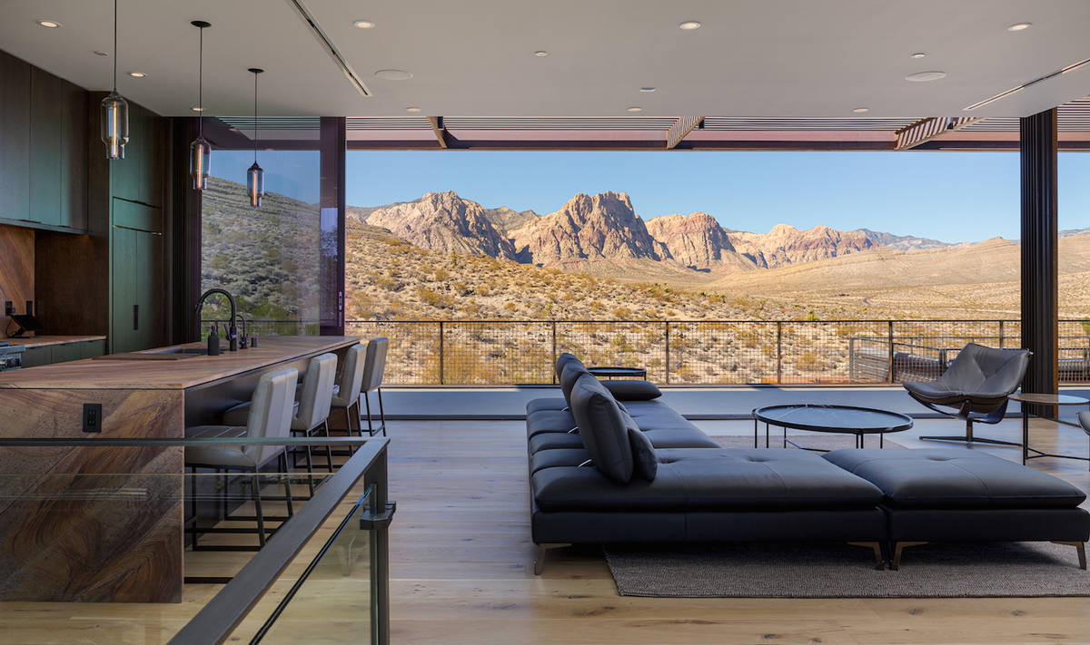 The Ivan Sher Group The second-floor offers striking views of the Spring Mountains that surroun ...
