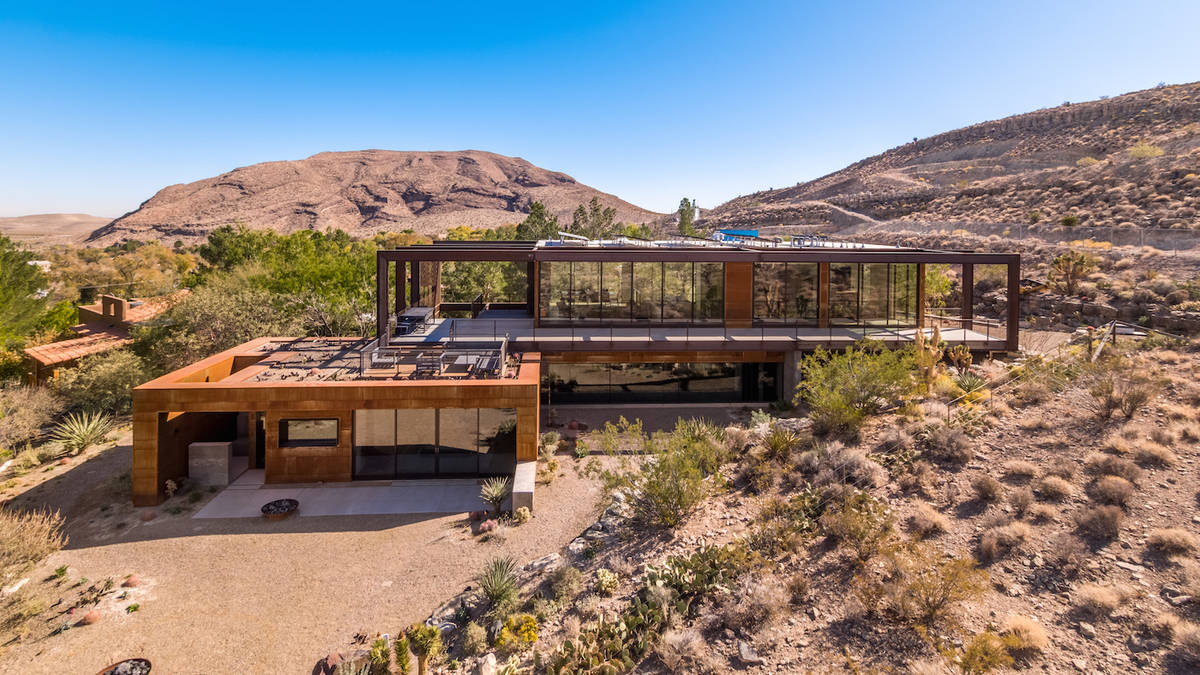 This Blue Diamond home at 4 Montana Court is listed for for $5.35 million. It's a modern take o ...