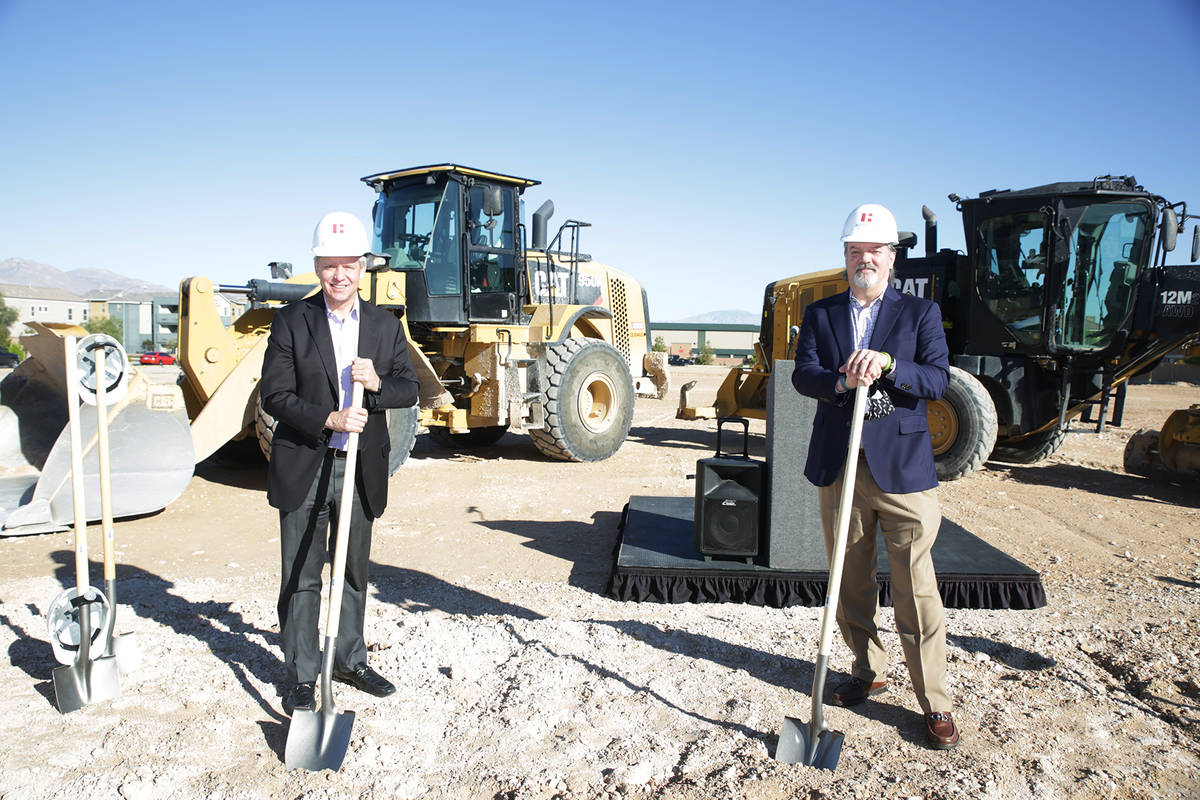 Joe DeSimone, left, First Federal Realty DeSimone; and Phil Ralston, president of American Neva ...