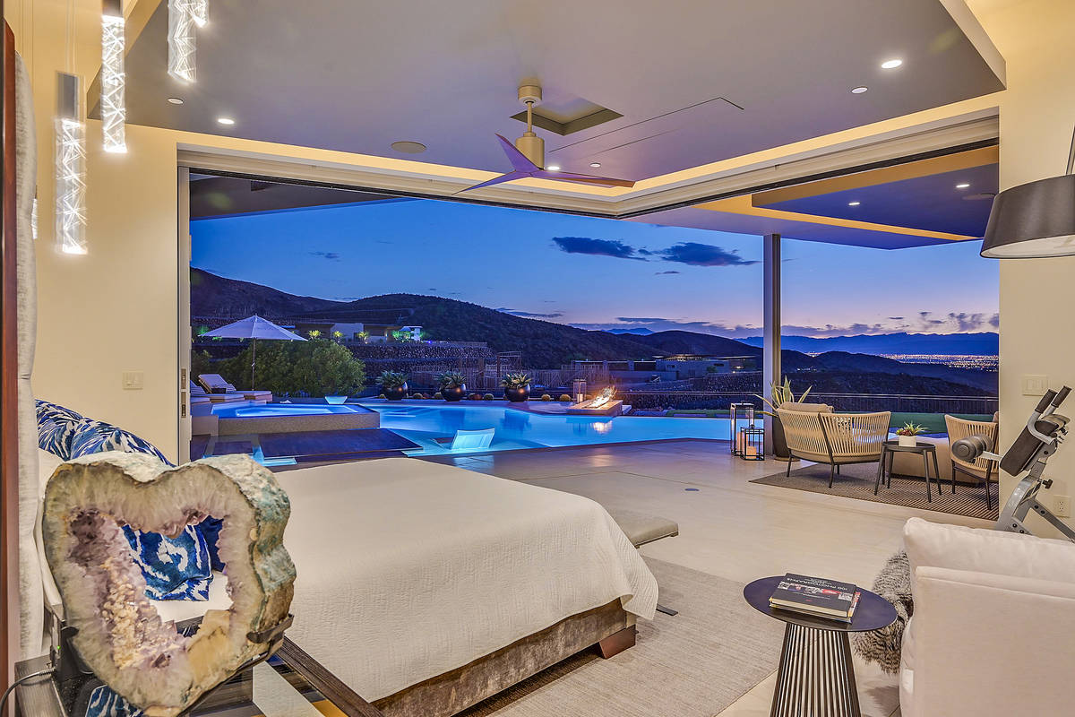 The home features views of the Las Vegas Valley. (Huntington and Ellis)