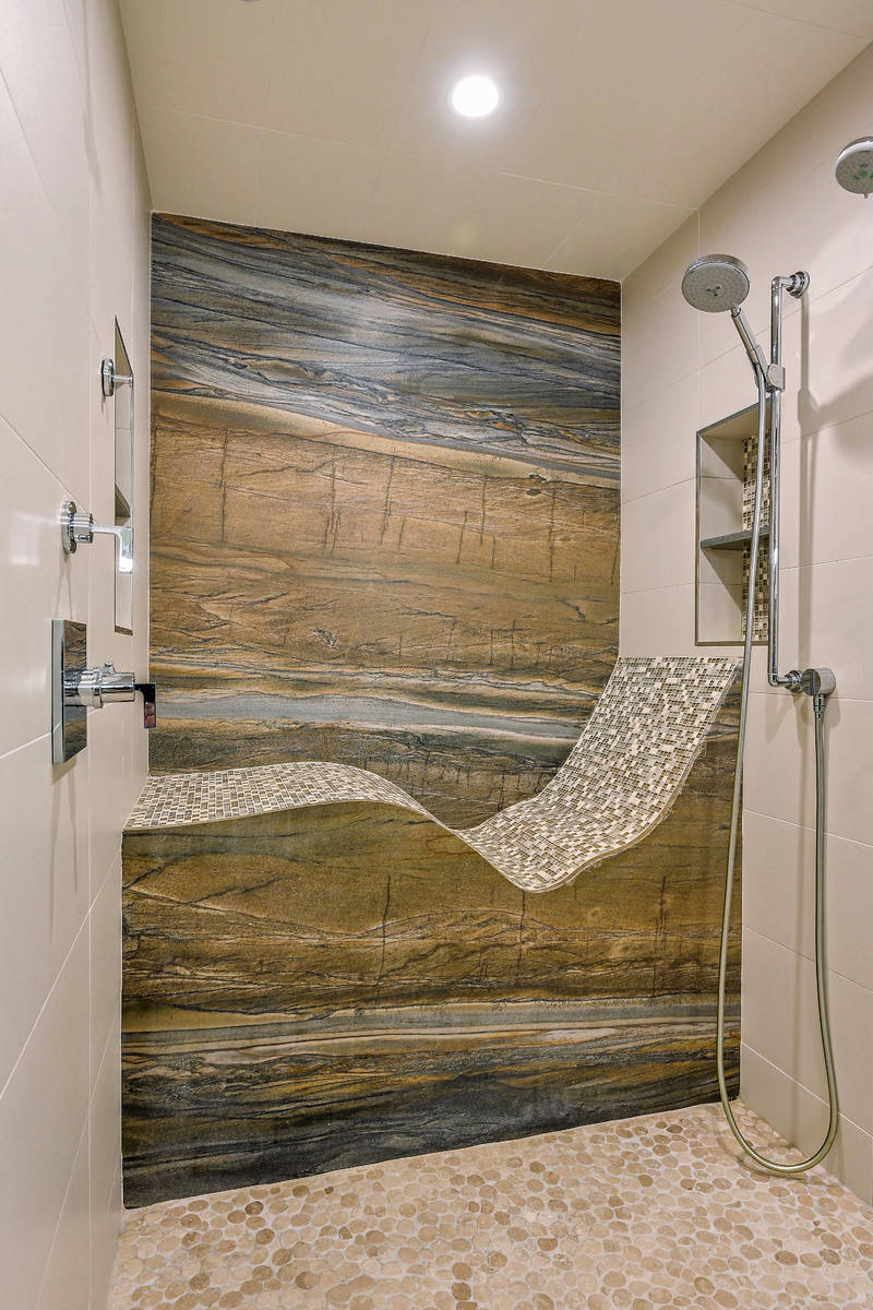 The shower in the master bath. (Huntington and Ellis)