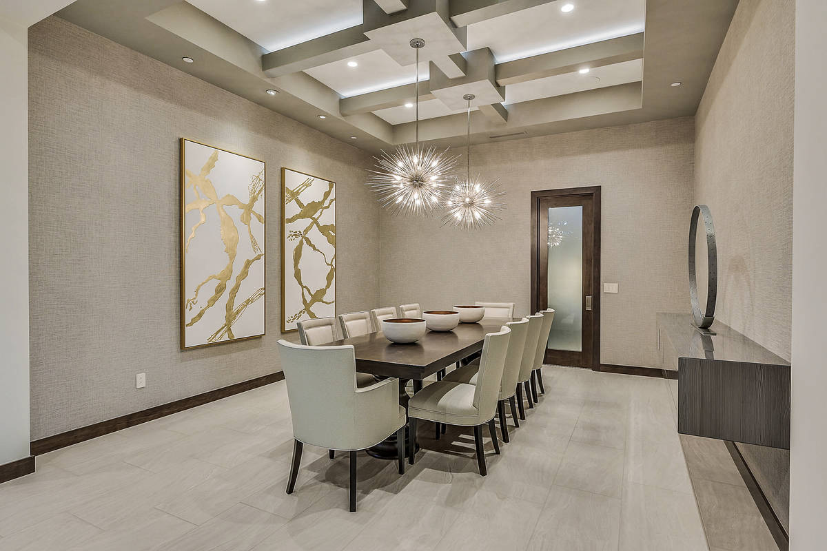 The dining room is off the entrance to the home between the wine room and the kitchen. (Hunting ...