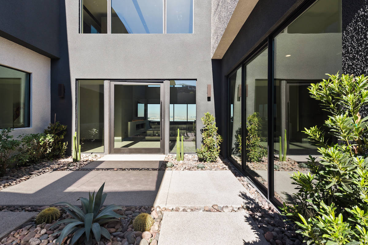 Another signature feature in Las Vegas Blue Heron's home designs is the front courtyard. (Blue ...