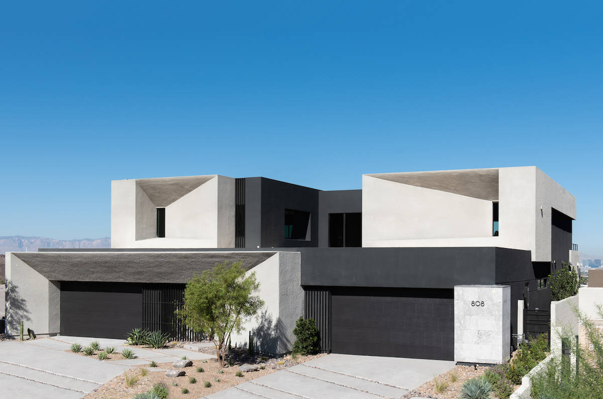 The 34-home Obsidian near MacDonald Highlands in Henderson features Blue Heron's new luxury hom ...