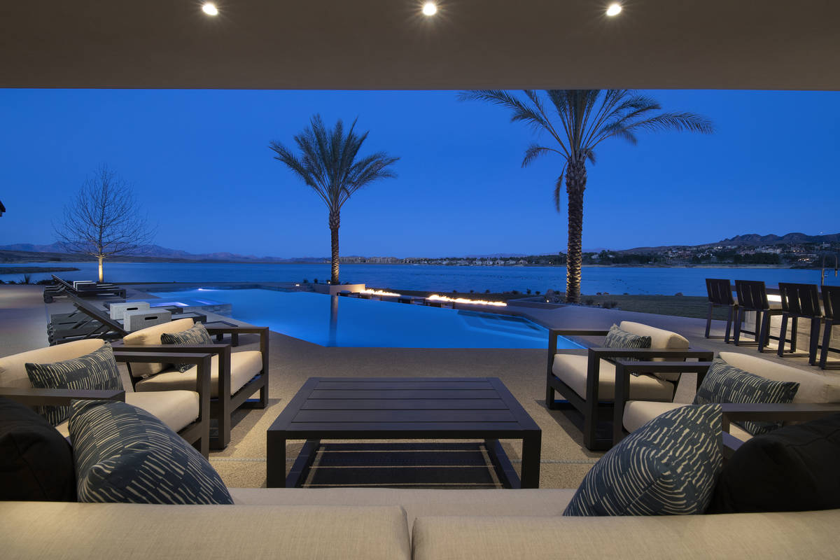 The Lake Las Vegas home has indoor/outdoor living features. (Synergy/Sotheby's International ...