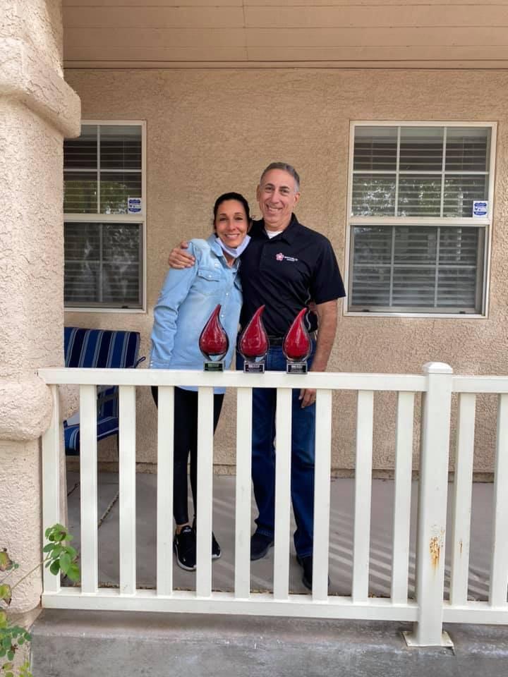 Natalie Allred and Steve Orrico. (IREM)