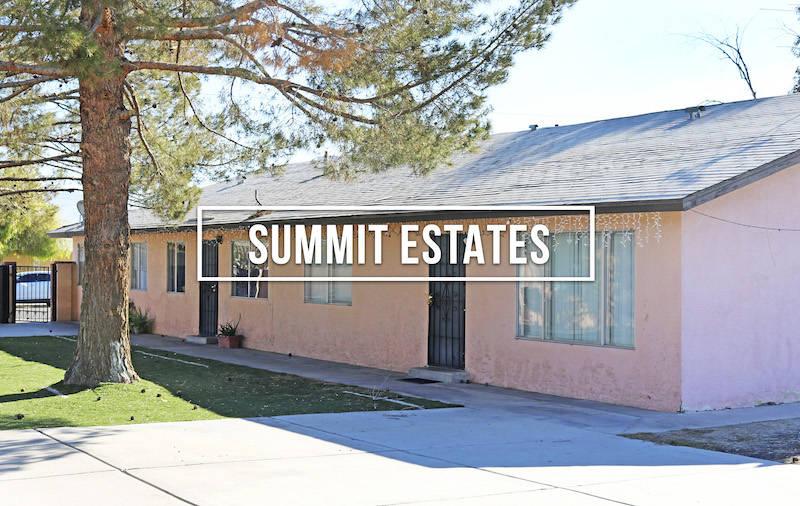 Summit Estates Apartments in North Las Vegas has sold for $1,529,500 ($84,972/unit). (Northcap ...