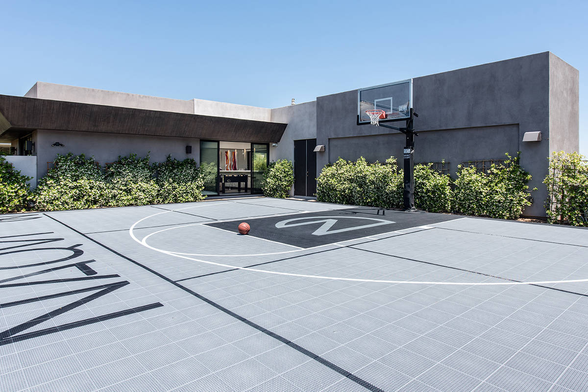 Outdoor basketball court. (Simply Vegas)