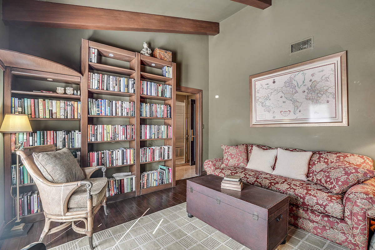 The one-story home measures 7,249 square feet and has two master suites, two guest bedrooms, 6. ...
