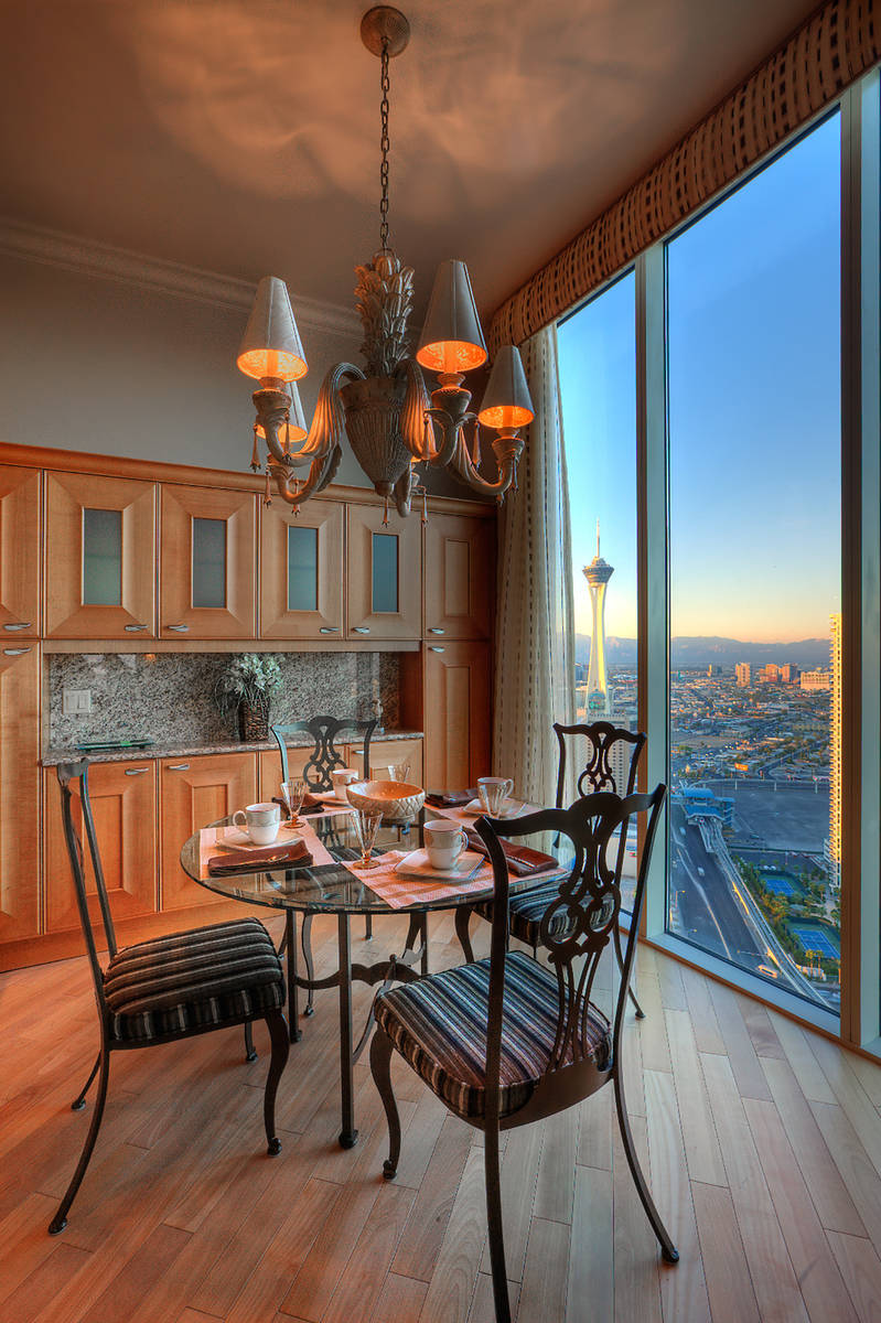 Las Vegas philanthropists Barbara and Bruce Woollen have listed their Turnberry Place penthouse ...
