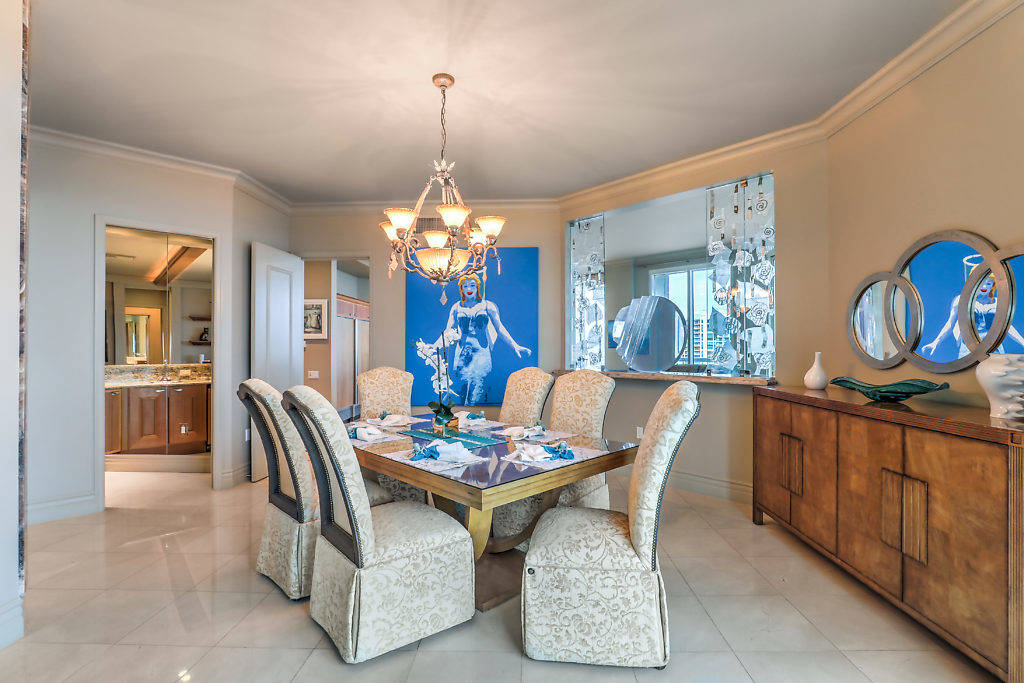 The three-bedroom, five-bathroom two-level penthouse extends over half the 37th and 38th floors ...
