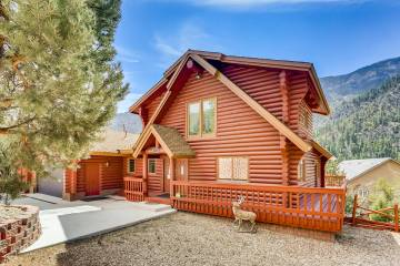 Mt. Charleston Realty This 3,728-square-foot, custom log cabin on Mount Charleston at 261 Kris ...