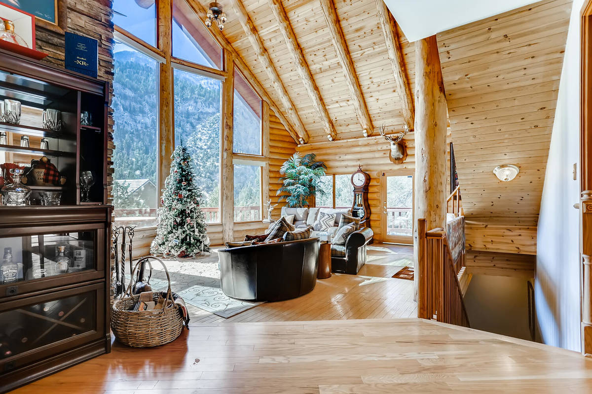 The home has glass walls. (Mt. Charleston Realty)
