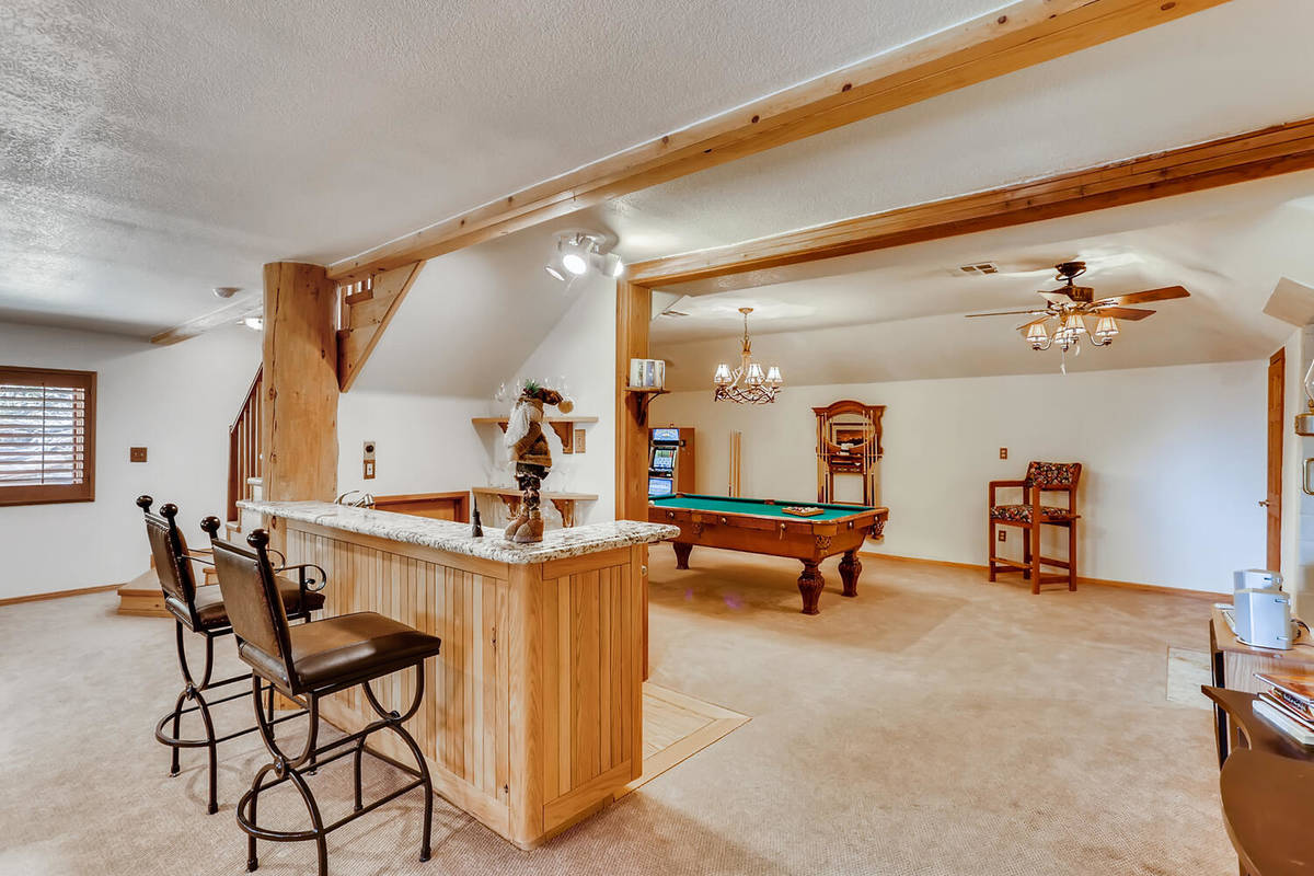 The game room. (Mt. Charleston Realty)