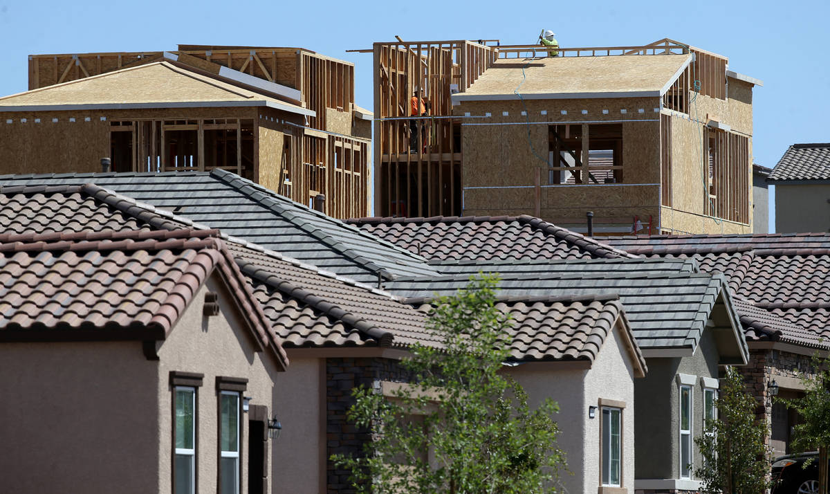 Las Vegas Review-Journal file photo This spring, homes were under construction in the master-p ...