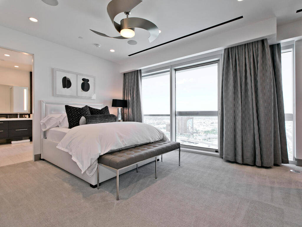 The penthouse has two master bedrooms. (Elite Realty)