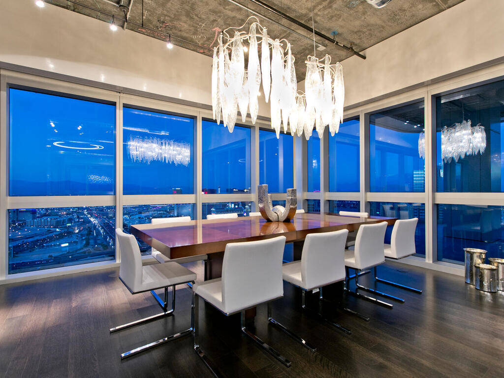 This 12,940-square-foot penthouse in The Martin is on the market for $18 million. The home take ...