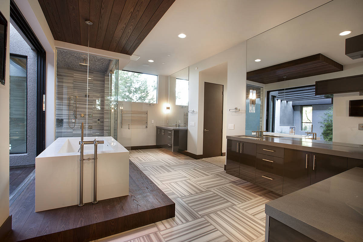 """Some of the valley's new builds are integrating the spa-like bathrooms out in the open wit ..."