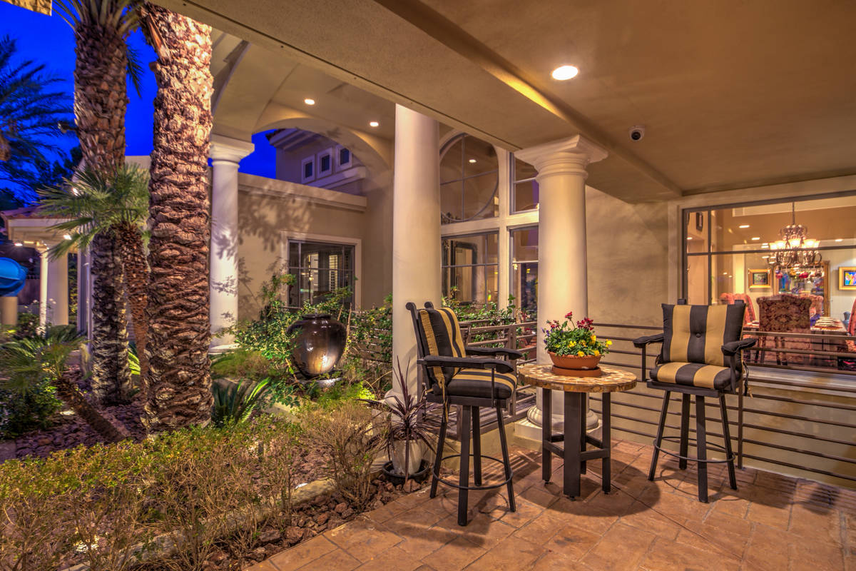 Sitting area on side patio. (Mark Wiley Group)