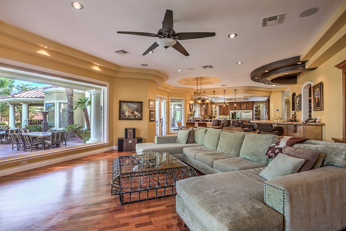 The family room. (Mark Wiley Group)