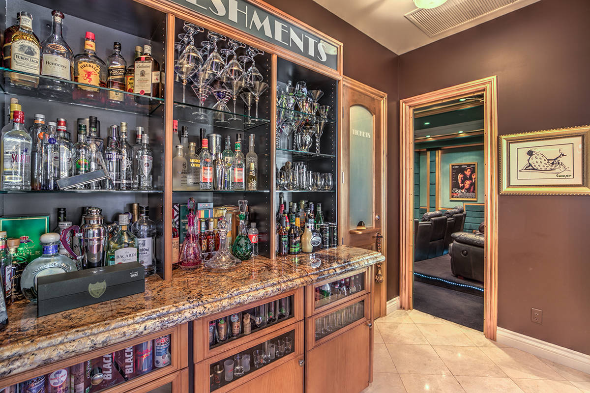 One of several bars in the home. (Mark Wiley Group)