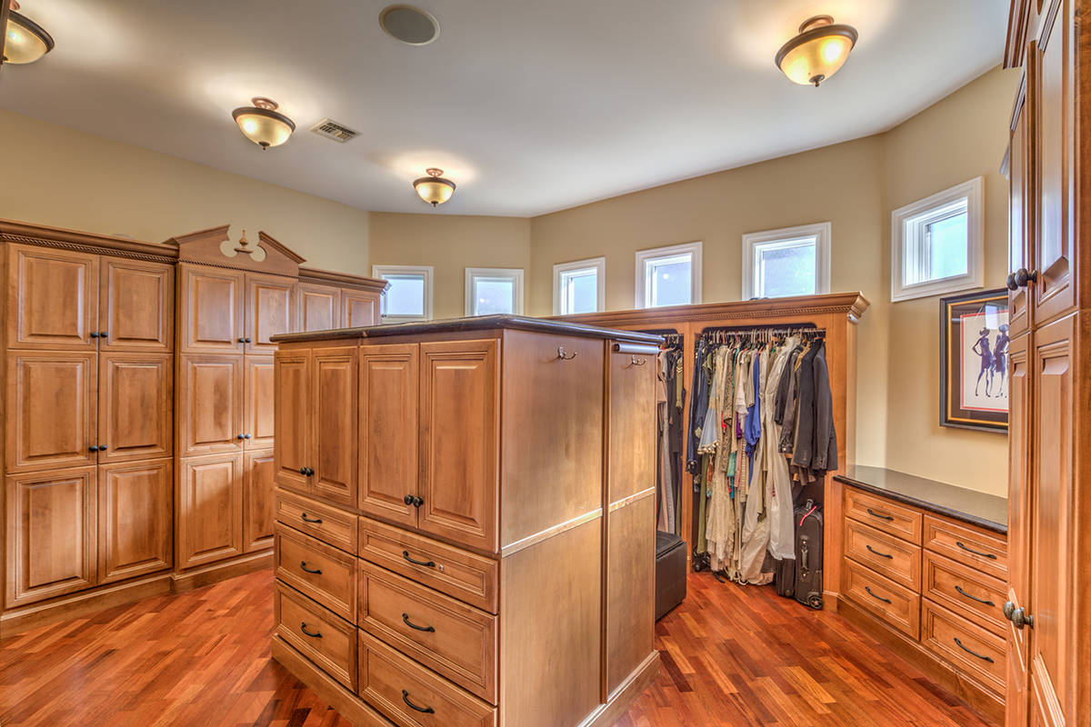 One of several closets in the home. (Mark Wiley Group)
