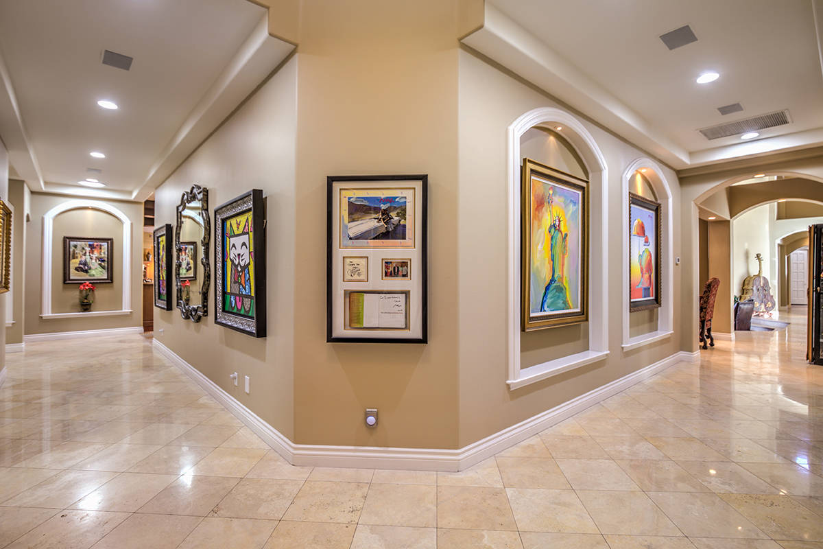 The main home measures 11,628 square feet. (Mark Wiley Group)