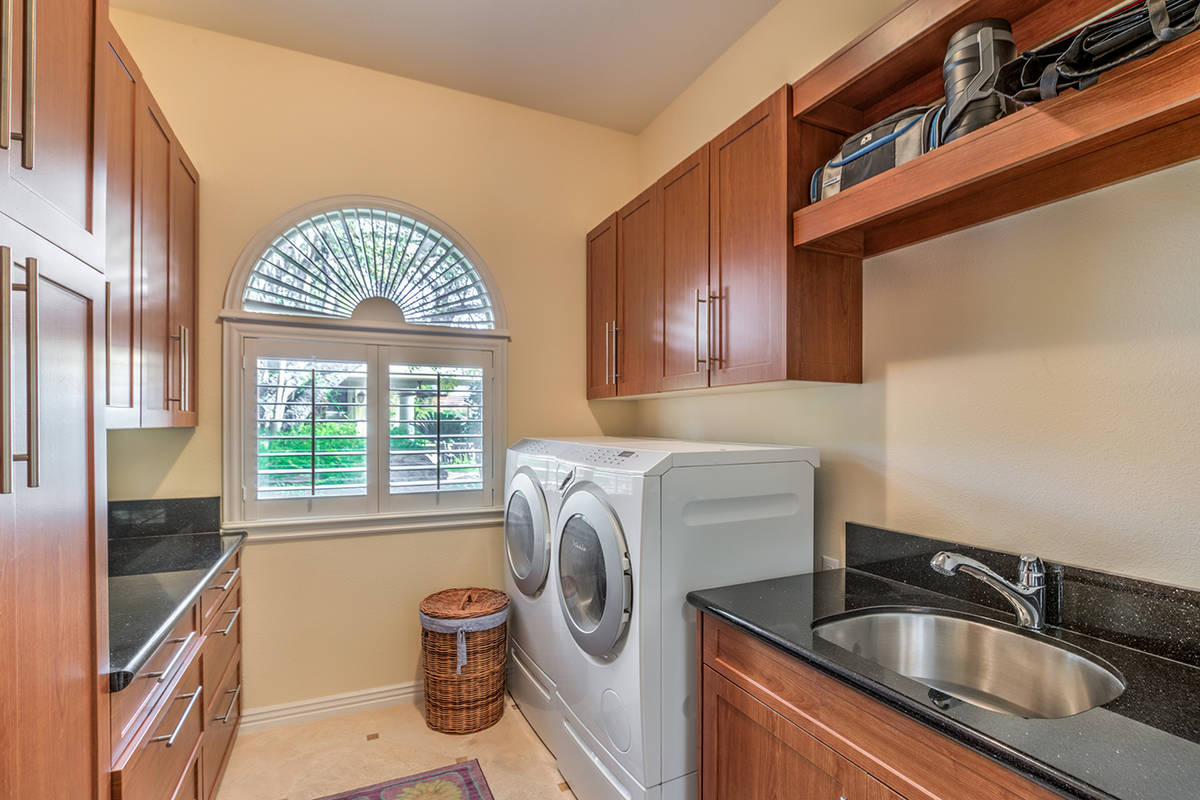 Guest house laundry. Guest house kitchen. (Mark Wiley Group)