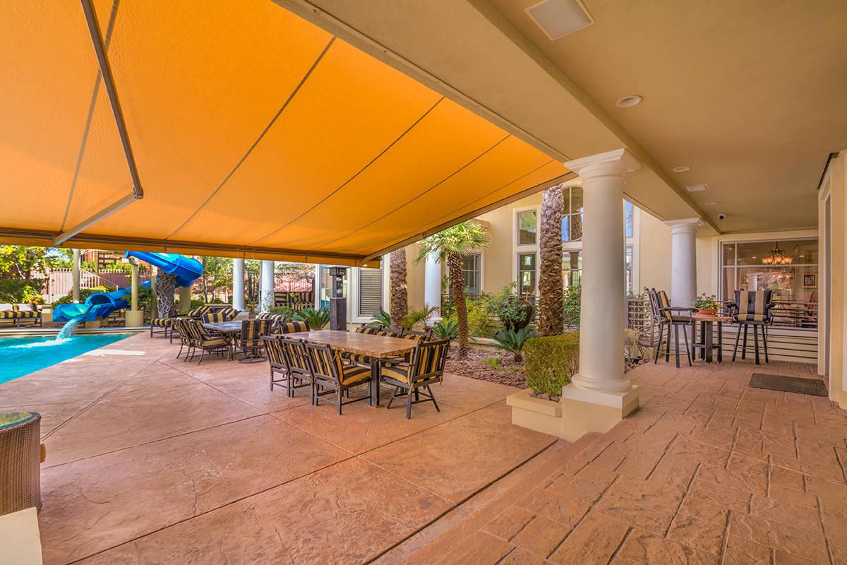 Backyard patio. (Mark Wiley Group)