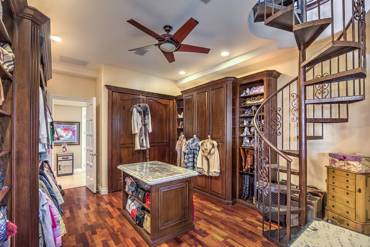 The home has a two-story room that has been converted into a large closet. (Mark Wiley Group)