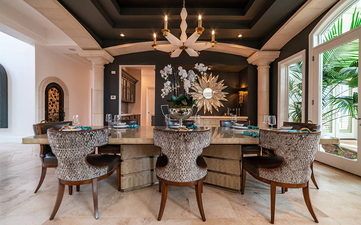 The formal dining room at 9511 Kings Gate Court. (Luxurious Real Estate)