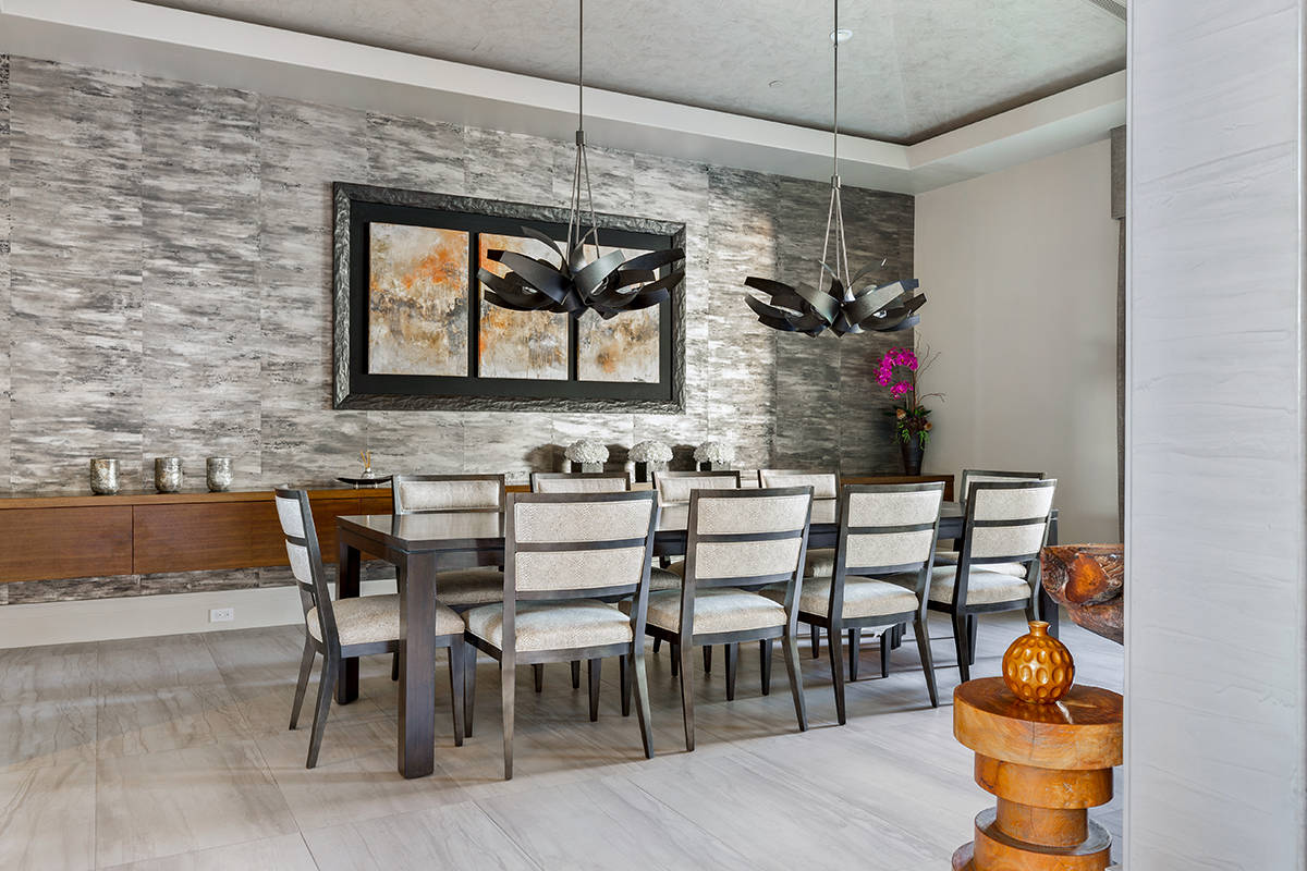 The home at 23 Hawk Ridge Drive in The Ridges in Summerlin features a formal dining room. (Ivan ...