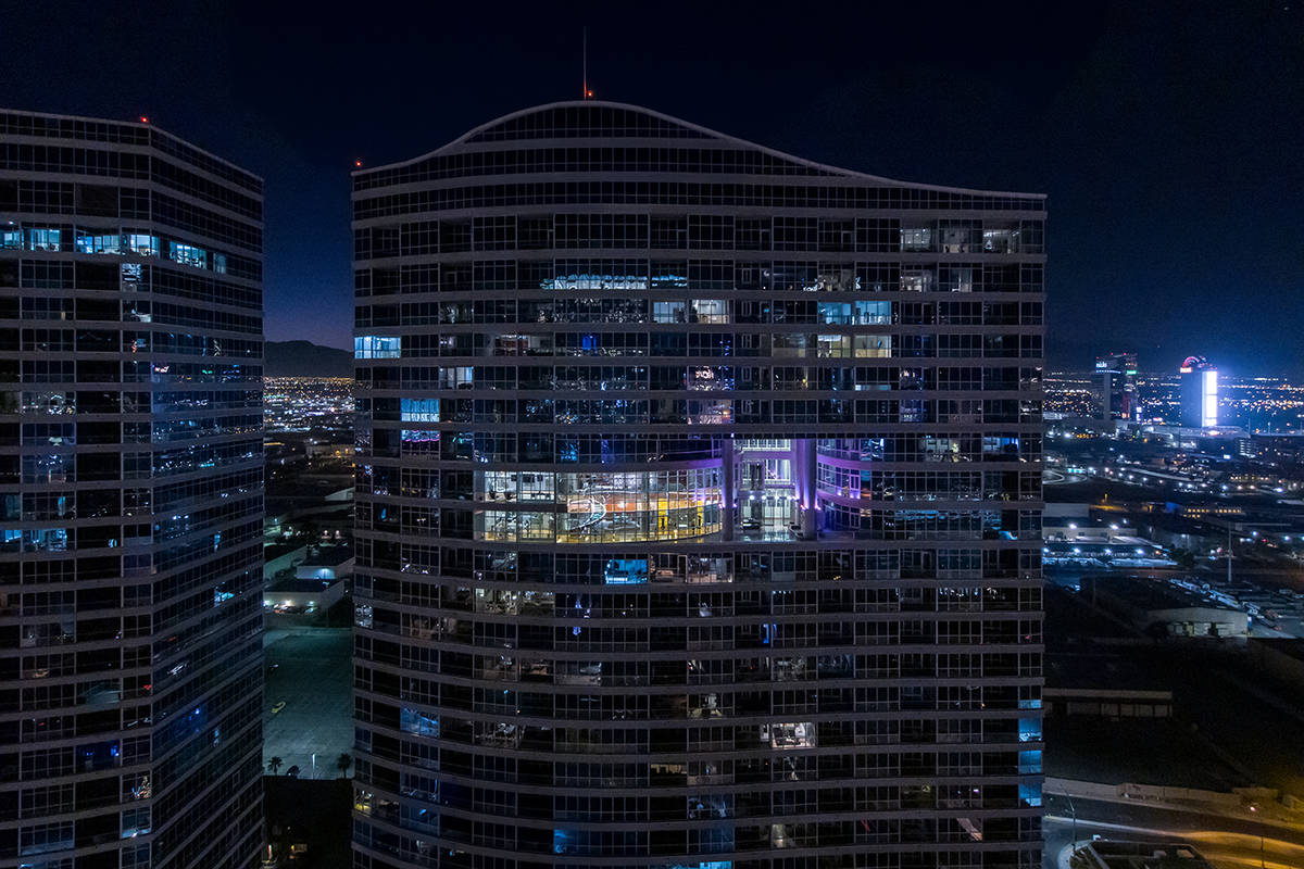 A 8,017-square-foot three level Panorama Towers penthouse has listed for $15 million. The home ...