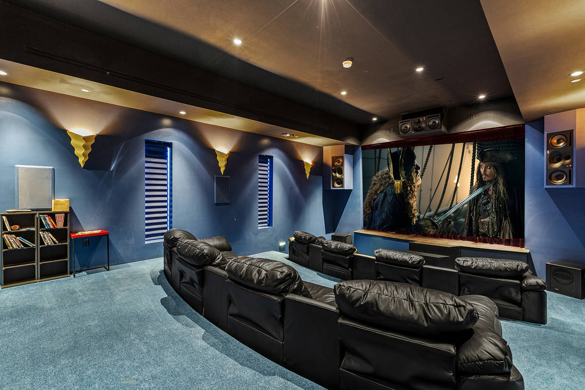 Magician Lance Burton's Henderson home features a theater with a stage. Over the years, many La ...