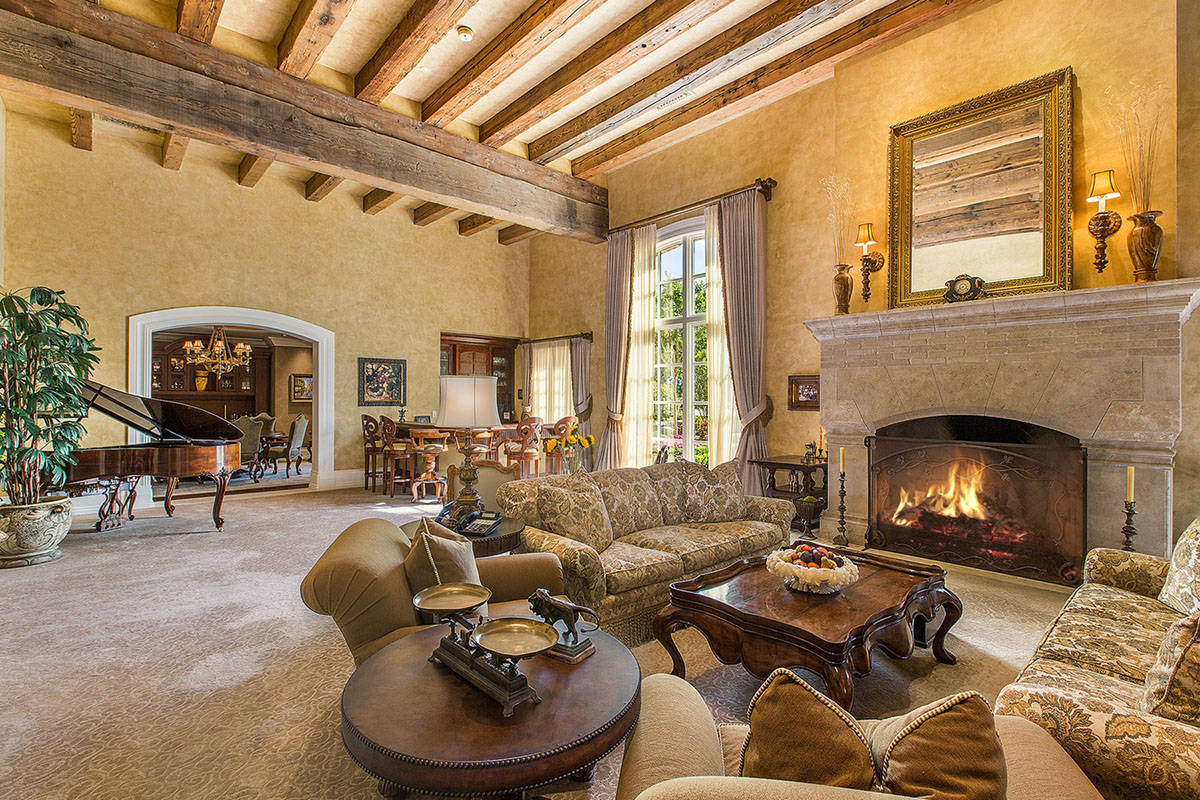 The Ivan Sher Group The home has handcrafted chestnut, cherry and stone flooring, hand-hewn be ...