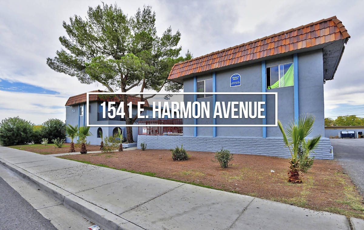 An apartment building at 1541 E. Harmon Ave. sold for $1,500,000 ($88,235/unit). (Northcap Comm ...