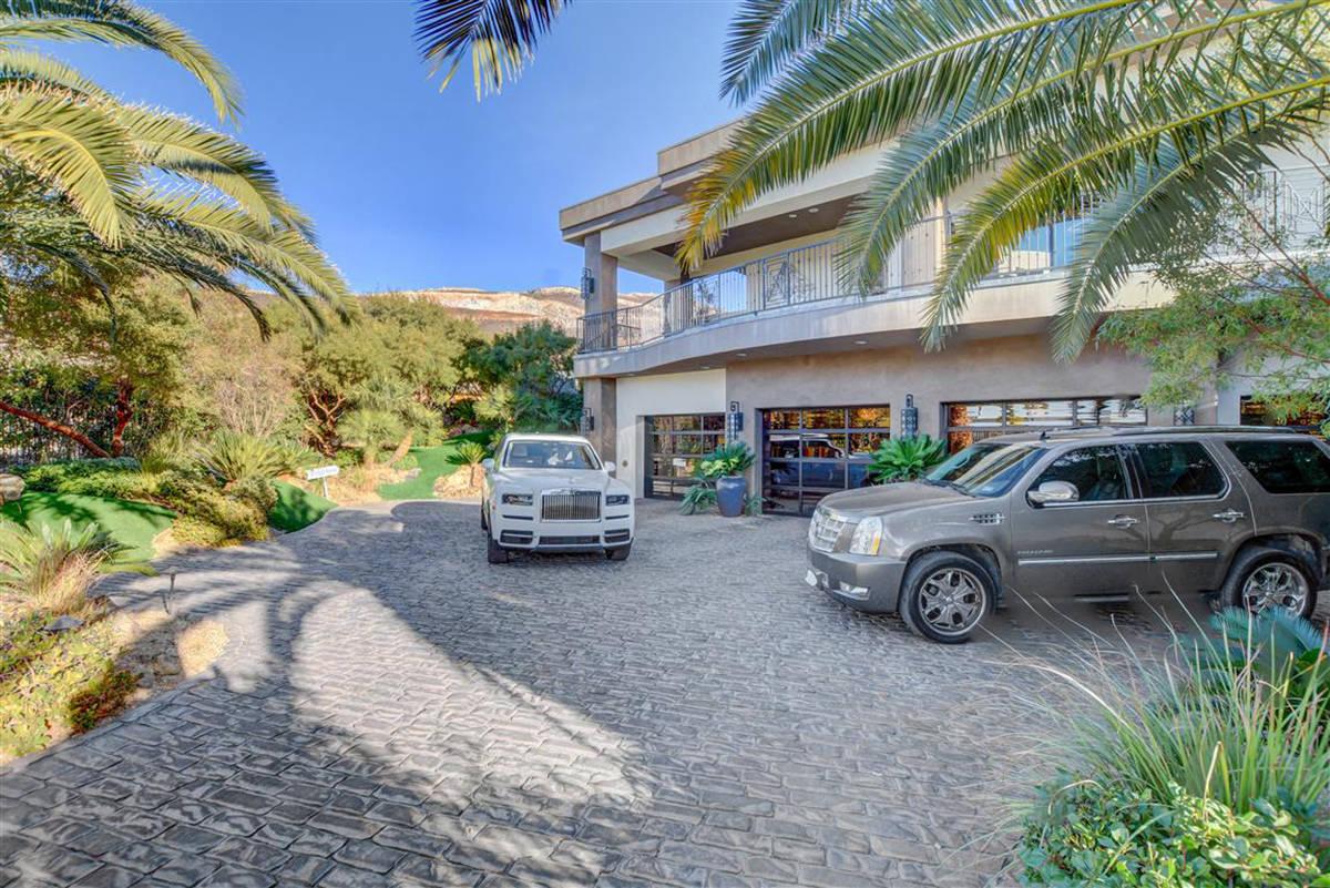 The home has a seven-car garage. (Keller Williams)