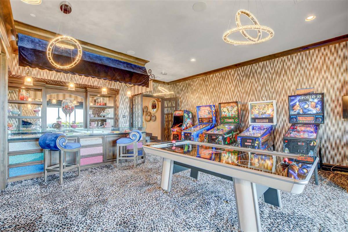 Game room near theater. (Keller Williams)