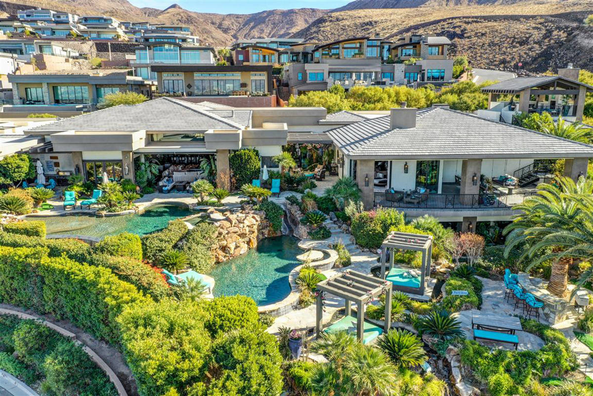 The home has a resort-style backyard. (Keller Williams)