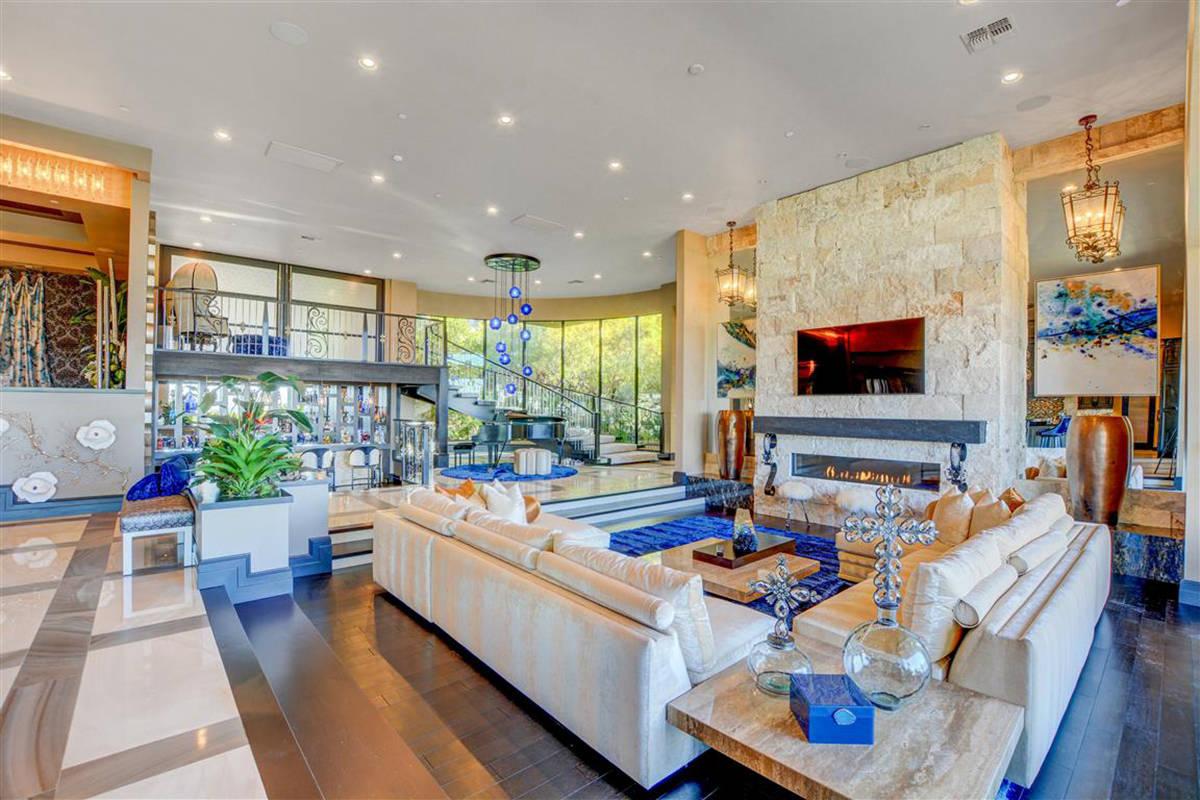 The sunken living room. (Keller Williams)