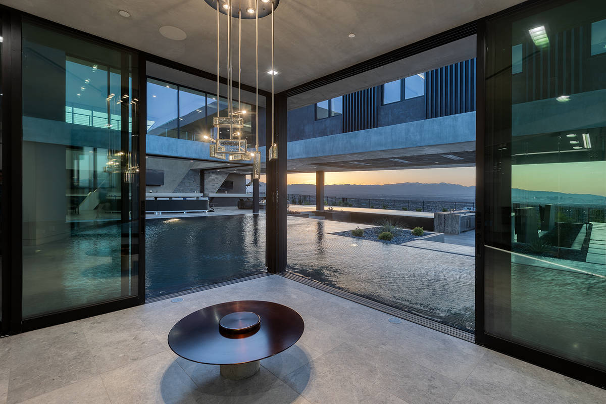 Water is a big feature of the home. (Synergy Sotheby's International Realty)