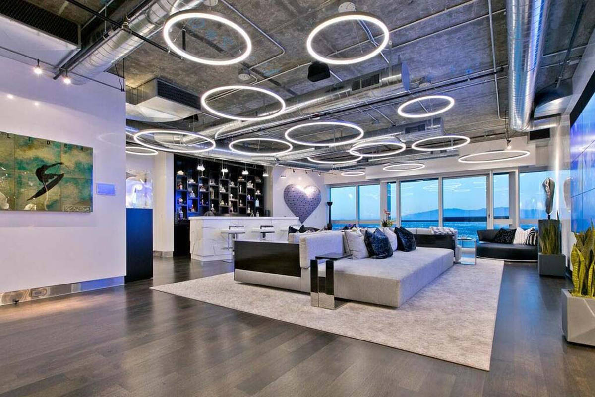 The nearly 13,000-square-foot Martin penthouse has an additional 2,000 square feet of balcony a ...