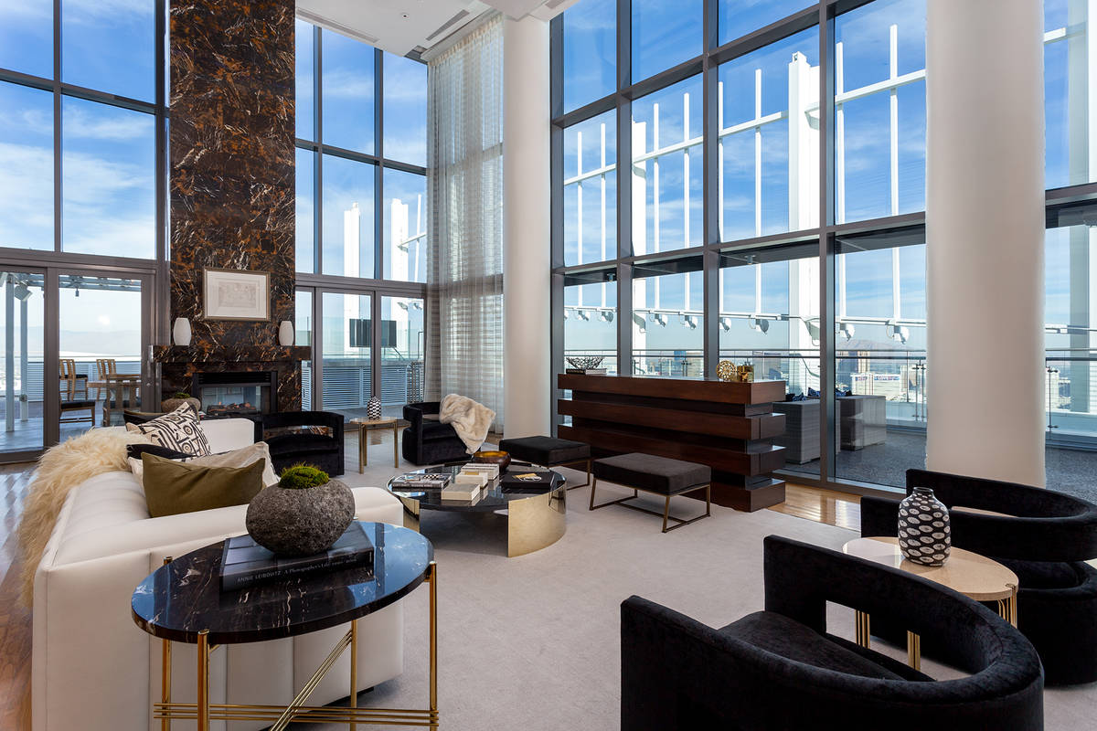 The Palms Place penthouse sold for $12.5 million in 2019. (Ivan Sher Group)