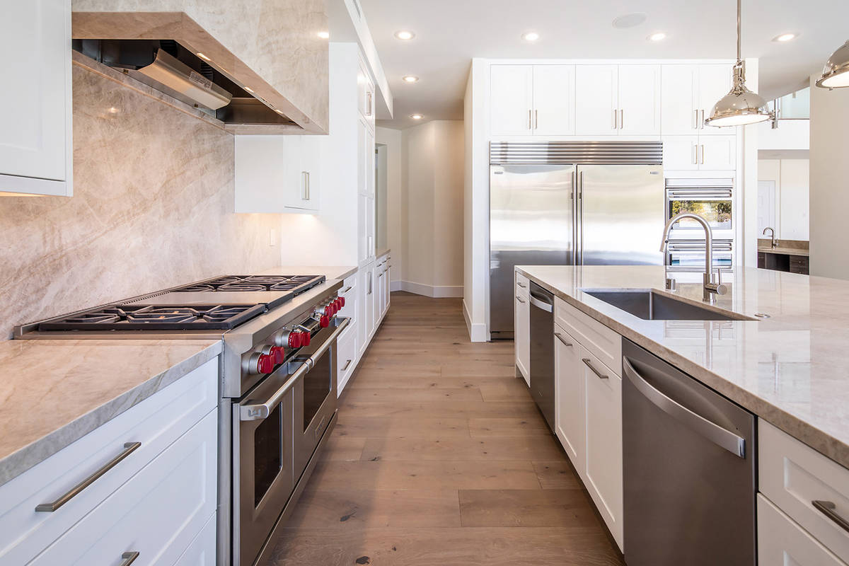 The kitchen quartzite countertops. (Ivan Sher Group)