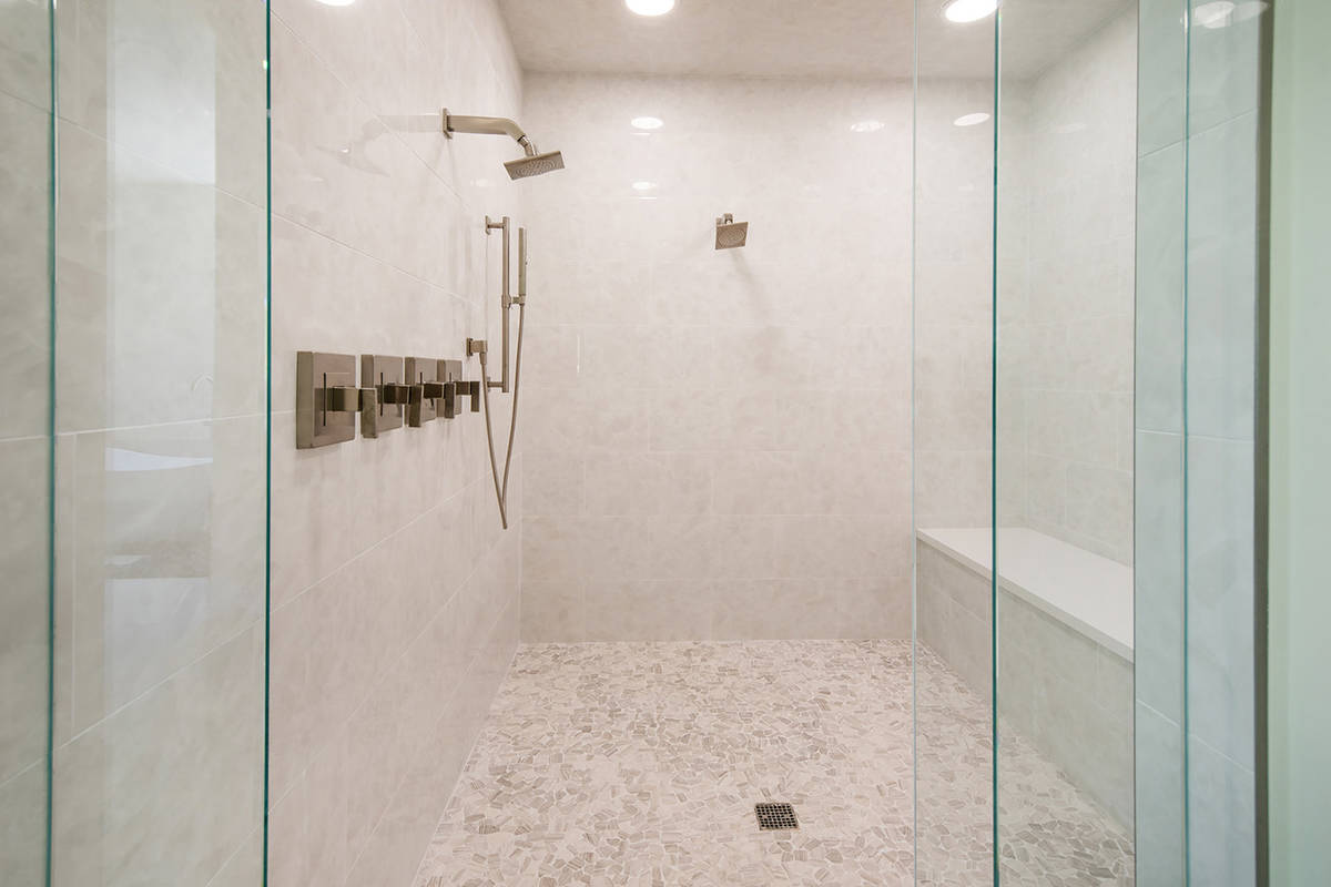 The master bath features a large shower. (Ivan Sher Group)