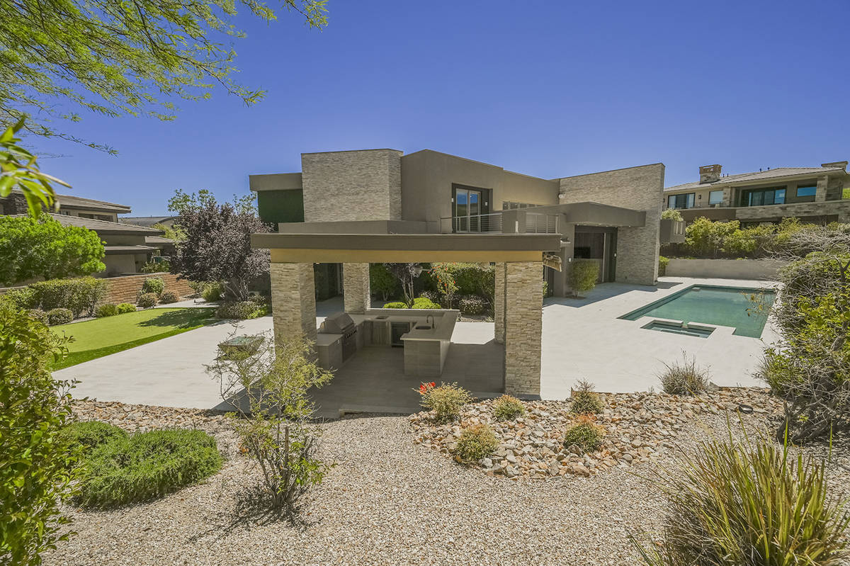The home sits on nearly half acre in The Ridges in Summerlin. (Ivan Sher Group)