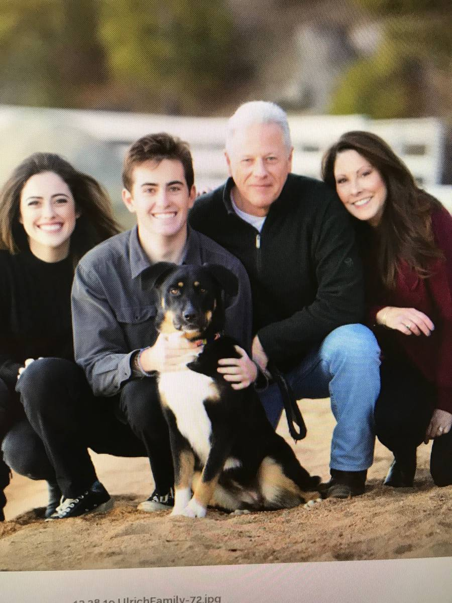 Los Angeles commercial insurance brokers Laurel and Vance Ulrich, along with their children, Ju ...