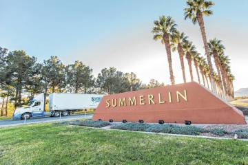Led by Summerlin at No. 3, Las Vegas placed five master-planned communities in the top 23 in th ...