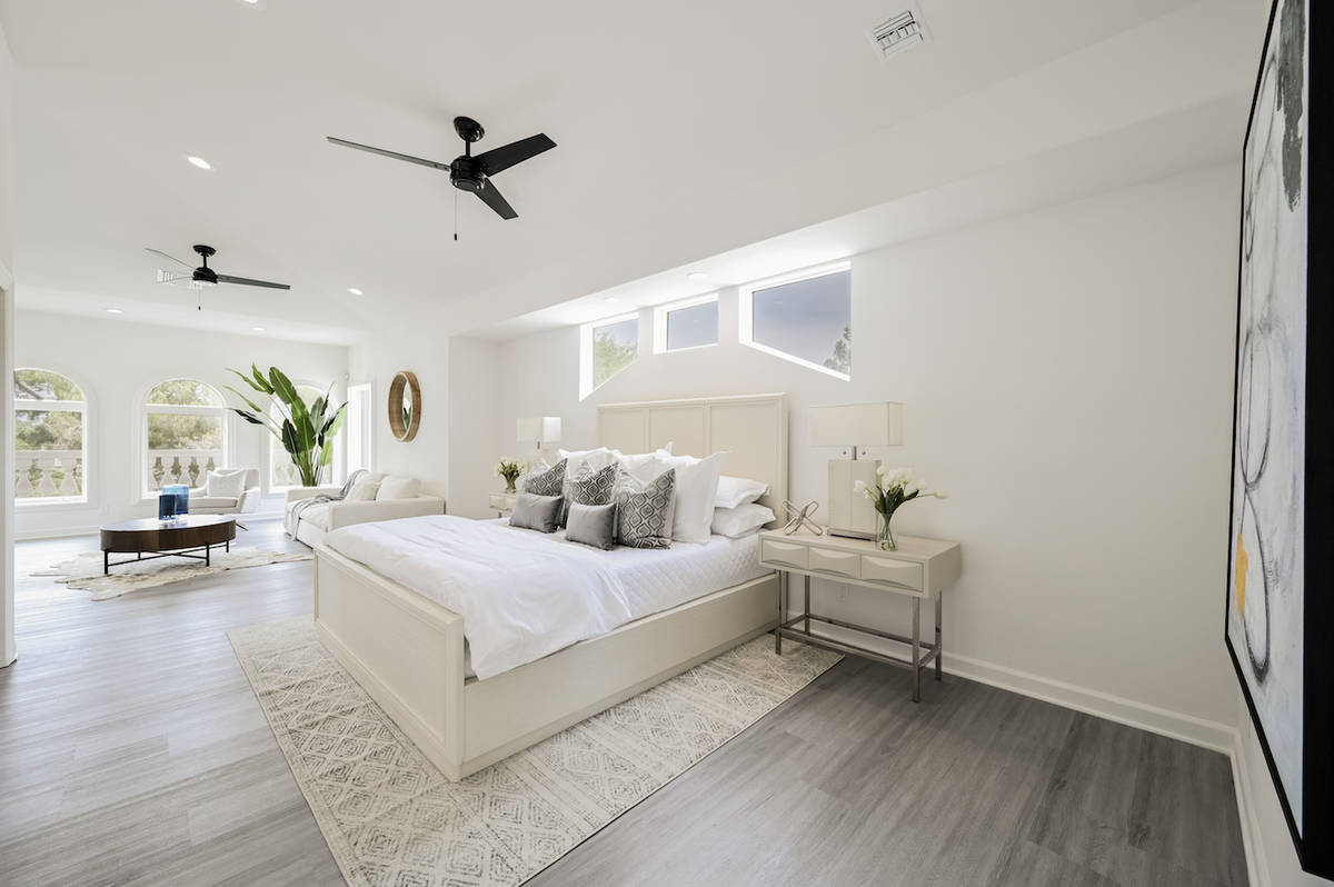 The 5,980-square-foot home has five bedrooms, including the master suite. (LUXE Estates & Lifes ...