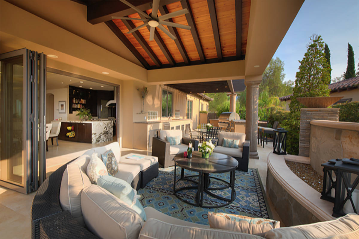 Terry Sherman of S2 Design designed the outdoor kitchen for Judy and Rick Kulis Lake Las Vegas ...